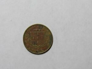 OLD JAMAICA COIN   1962 HALF PENNY   CIRCULATED DISCOLORED RIM DINGS