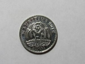 MAURITIUS COIN   2012 5 RUPEES   BRILLIANT UNCIRCULATED