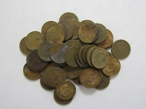 LOT OF 50 OLD MEXICO 1975 5 CENTAVO COINS   CIRCULATED