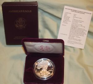 1992 S AMERICAN SILVER EAGLE PROOF