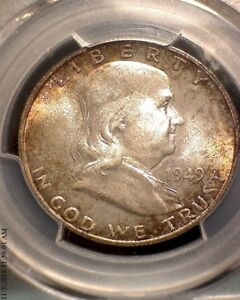 Click now to see the BUY IT NOW Price! 1949 S  FRANKLIN HALF DOLLAR   PCGS  MS67  FBL  CAC