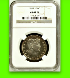 Click now to see the BUY IT NOW Price! 1894 S NGC MS62 PROOFLIKE POSSIBLE BRANCH MINT PROOF BARBER HALF DOLLAR 50C