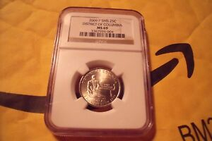 2009 P DISTRICT OF COLUMBIA TERR NGC SMS MS 69 25C  29/0 POP    620 REGISTRY PTS