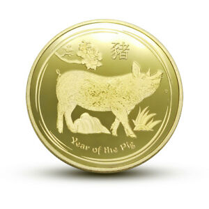 YEAR OF THE PIG 2019 CHINESE LUNAR ZODIAC COMMEMORATIVE COIN COLLECTION CRAFT