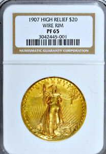 Click now to see the BUY IT NOW Price! 1907 HIGH RELIEF NGC PR65 POPULAR PROOF $20 SAINT GAUDENS