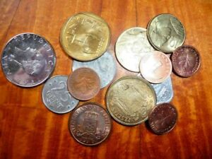 LOT OF 6 PACKETS OF LITTLETON COINS  12 COINS FROM 6 COUNTRIES 1953 83