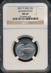 Click now to see the BUY IT NOW Price! 2007 P WASHINGTON QUARTER NGC MS69 SMS FINEST GRADE POP 5