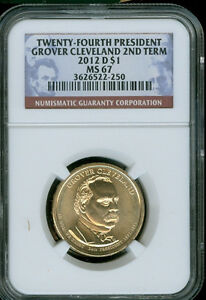 2012 D GROVER CLEVELAND 2ND TERM DOLLAR NGC MS67