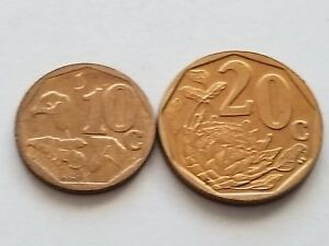 2007 SOUTH AFRICA 10 CENTS  XHOSA LEGEND  & 20 CENTS  ZULU LEGEND