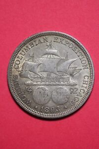 1893 COLUMBIAN EXPOSITION HALF DOLLAR EXACT COIN SHOWN FLAT RATE SHIPPING OCE300