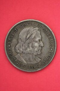 1893 COLUMBIAN EXPOSITION HALF DOLLAR EXACT COIN SHOWN FLAT RATE SHIPPING OCE261