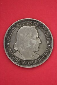 1893 COLUMBIAN EXPOSITION HALF DOLLAR EXACT COIN SHOWN FLAT RATE SHIPPING OCE319