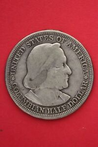 1893 COLUMBIAN EXPOSITION HALF DOLLAR EXACT COIN SHOWN FLAT RATE SHIPPING OCE364