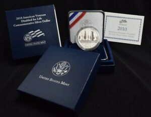 2010 AMERICAN VETERANS DISABLED FOR LIFE COMMEMORATIVE SILVER DOLLAR