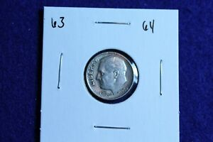 1964 P ROOSEVELT DIME CIRCULATED CONDITION NICE LUSTER 63