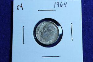 1964 P ROOSEVELT DIME CIRCULATED CONDITION NICE LUSTER 54