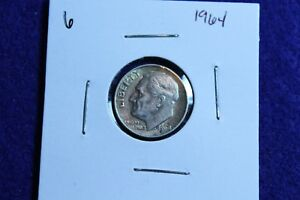 1964 P ROOSEVELT DIME CIRCULATED CONDITION NICE LUSTER 6