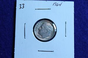 1964 P ROOSEVELT DIME CIRCULATED CONDITION NICE LUSTER 33