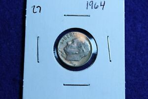 1964 P ROOSEVELT DIME CIRCULATED CONDITION NICE LUSTER 27