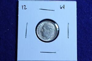 1964 P ROOSEVELT DIME CIRCULATED CONDITION NICE LUSTER 12