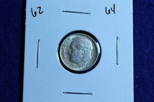 1964 P ROOSEVELT DIME CIRCULATED CONDITION NICE LUSTER 62