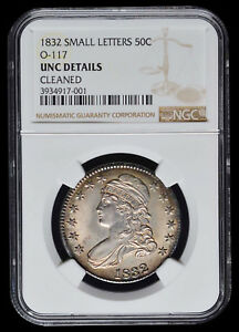 Click now to see the BUY IT NOW Price! 1832 P CAPPED BUST HALF DOLLAR SMALL LETTERS O 117 NGC UNC DETAILS SRS:4