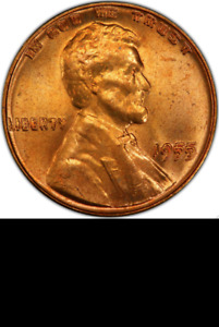 Click now to see the BUY IT NOW Price! 1955 PCGS MS65 RD DOUBLED DIE OBVERSE $114 000 APR POP 21/0 DDO LINCOLN CENT 1C