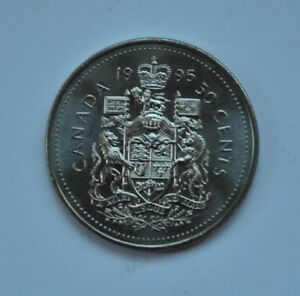 1995 CANADIAN FIFTY CENT NICKEL COIN CANADA 50C LOT A159
