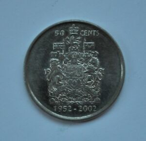 1952 2002 CANADIAN FIFTY CENT COMMEMORATIVE NICKEL COIN CANADA 50C LOT A160
