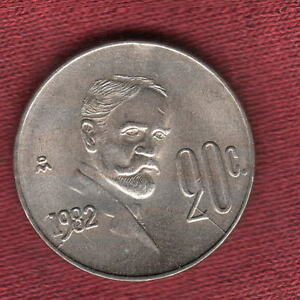 1982 MEXICO 20 CENTAVOS THREE COIN DIE BREAK PROGRESSION ERRORS BU