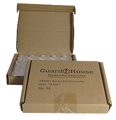 BOX OF 50 GUARDHOUSE NICKEL SIZE DIRECT FIT CAPSULES 21MM