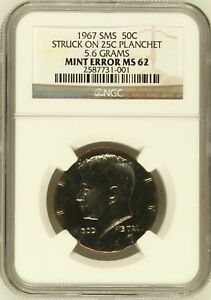 ON SALE 1967 50 ON 25 PLANCHET 5.6 GRAMS SPECIAL MINT SET NGC MS 62   2 KNOWN