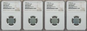 ON SALE 1943 LINCOLN CENT 3 PIECE SET OF EXPERIMENTAL ZINC TEST BLANKS NGC