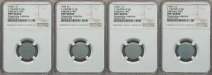 ON SALE 1943 LINCOLN CENT 4 PIECE SET OF EXPERIMENTAL ZINC TEST BLANKS NGC