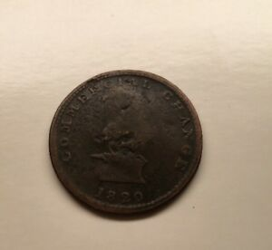 1820 UPPER CANADA CANADIAN 1/2 PENNY TOKEN COMMERCIAL CHANGE