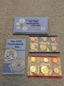 1998 U.S. MINT SET IN ORIGINAL PACKAGING ONLY $3 OVER COIN FACE VALUE