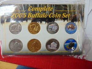 COMPLETE 2005 BUFFALO COIN SET 8 MINT NICKELS COIN COLLECTION SALE