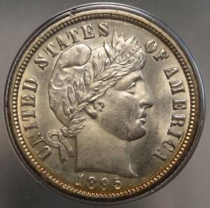 Click now to see the BUY IT NOW Price! 1895 O BARBER DIME PCGS/CAC MS 62 OLD PCGS RATTLER PRETTY KEY DATE
