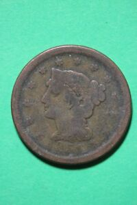 1851 BRAIDED HAIR LARGE CENT EXACT COIN PICTURED FLAT RATE SHIPPING OCE245