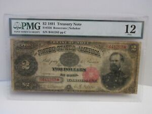 1891 $2 TREASURY NOTE FR. 356 PMG 12