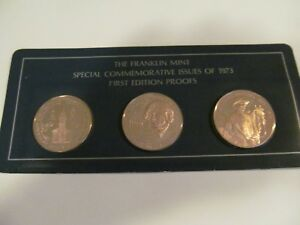 1973 FRANKLIN MINT PROOF COMMEMORATIVE ISSUES