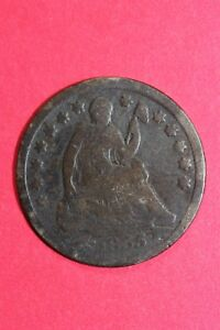 1855 P SEATED LIBERTY HALF DIME EXACT COIN PICTURED FLAT RATE SHIPPING OCE232