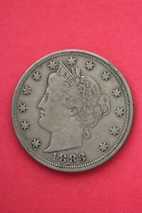 1883 P LIBERTY NICKEL NO CENTS EXACT COIN PICTURED FLAT RATE SHIPPING OCE018