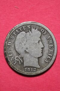 1912 P BARBER LIBERTY DIME EXACT COIN PICTURED FLAT RATE SHIPPING OCE 286