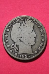 1906 P BARBER LIBERTY HALF DOLLAR EXACT COIN PICTURED FLAT RATE SHIPPING OCE 095