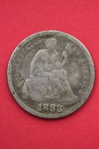 1888 P SEATED LIBERTY DIME EXACT COIN PICTURED FLAT RATE SHIPPING OCE070
