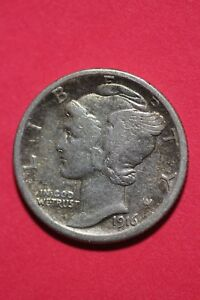1916 S WINGED MERCURY DIME EXACT COIN SHOWN 90  SILVER FLAT RATE SHIPPING OCE176