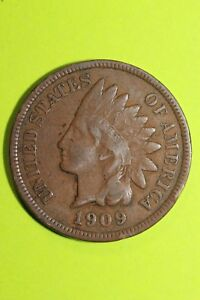 1909 INDIAN HEAD CENT PENNY EXACT COIN PICTURED FLAT RATE SHIPPING OCE 463