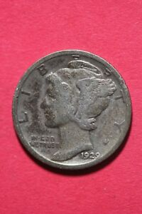 1929 P WINGED MERCURY DIME EXACT COIN SHOWN 90  SILVER FLAT RATE SHIPPING TOM545