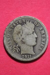 1911 P BARBER LIBERTY DIME EXACT COIN PICTURED FLAT RATE SHIPPING OCE 112